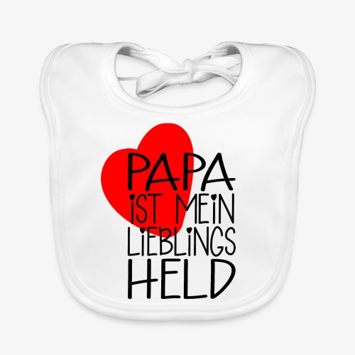 Papa Lieblings Held Geschenk - Baby Bio-Lätzchen