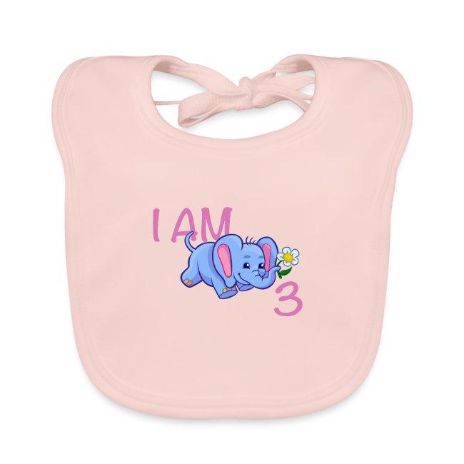 I am 3 - elephant pink