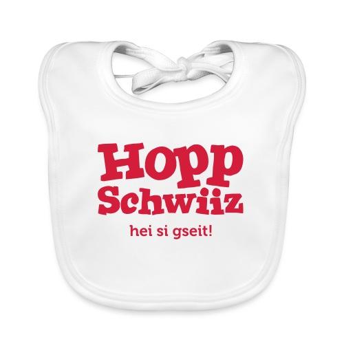 Hopp-Schwiiz hei si gseit - Baby Bio-Lätzchen