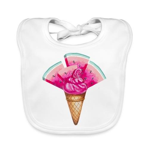Eis Melone - Baby Bio-Lätzchen