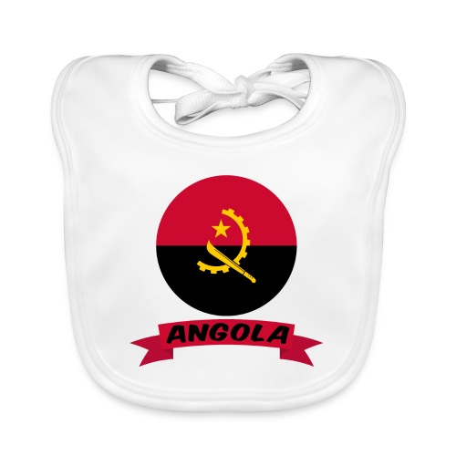 flag of Angola t shirt design ribbon banner - Bavaglino
