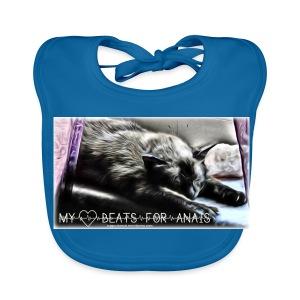 My Heart Beats For Anais - Baby Organic Bib