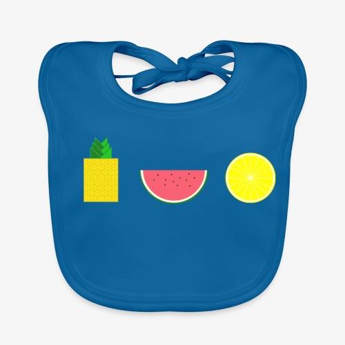 DIGITAL FRUIT Ananas Zitrone Melone - Baby Bio-Lätzchen