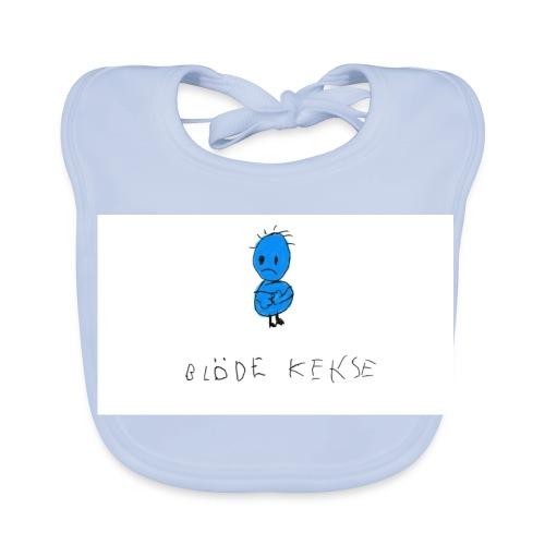 Blöde Kekse blau - Baby Bio-Lätzchen