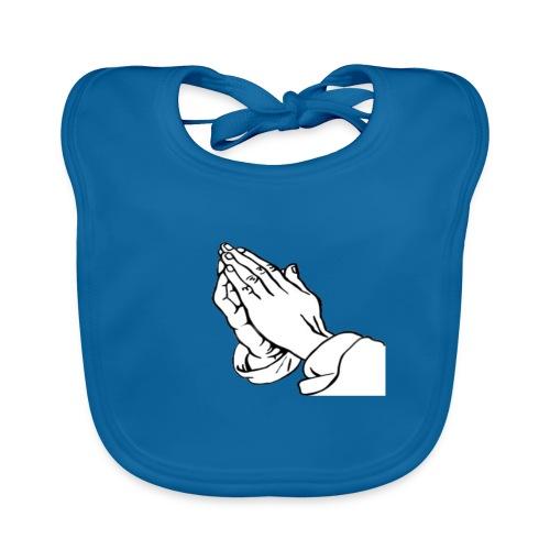 PRAYING HANDS x52 - Ekologisk babyhaklapp