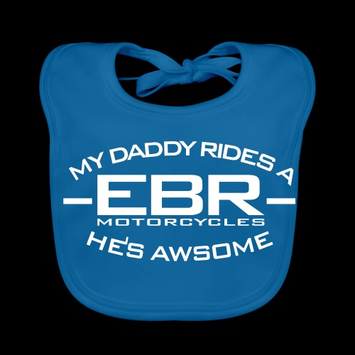 My Daddy Rides a EBR - Ekologisk babyhaklapp