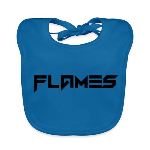 Futuristic Flames Logo - Baby Organic Bib