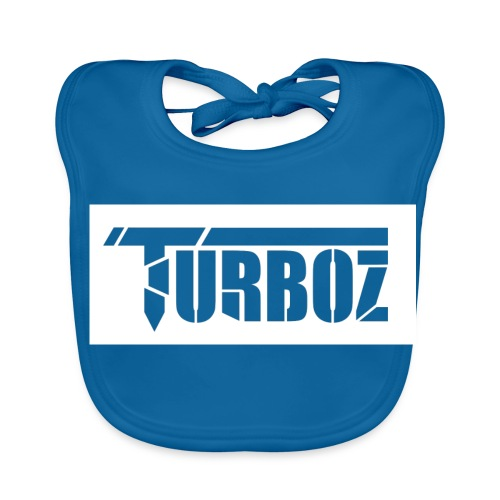 white Turboz background - Baby Organic Bib