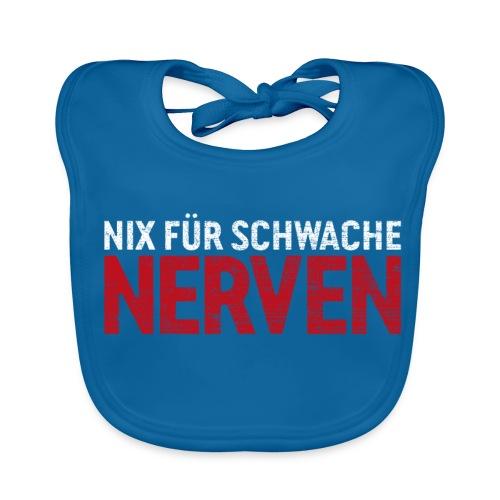 Nix für schwache Nerven – lustige Geschenkidee - Baby Bio-Lätzchen