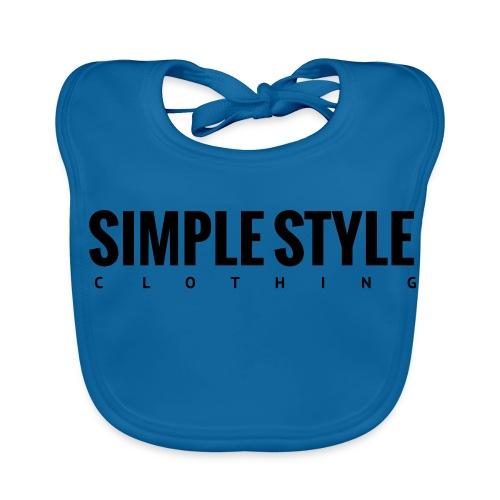 Simple Style Clothing Small Logo - Baby Bio-Lätzchen