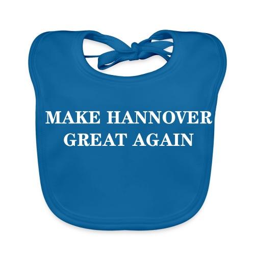 Make Hannover Great Again (Weiß auf Rot) - Baby Bio-Lätzchen