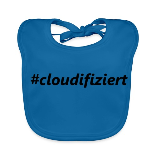#cloudifiziert black - Baby Bio-Lätzchen