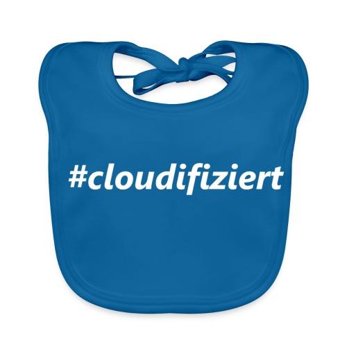 #Cloudifiziert white - Baby Bio-Lätzchen