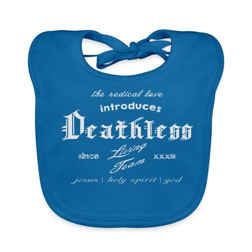deathless living team grau - Baby Bio-Lätzchen