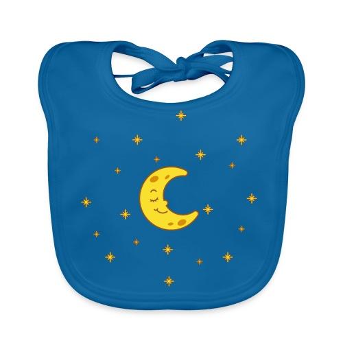Mond und Sterne - Baby Bio-Lätzchen
