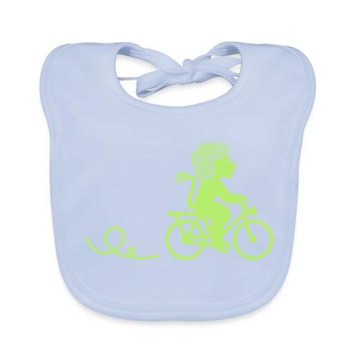 Züri-Leu beim Velofahren ohne Text - Baby Bio-Lätzchen