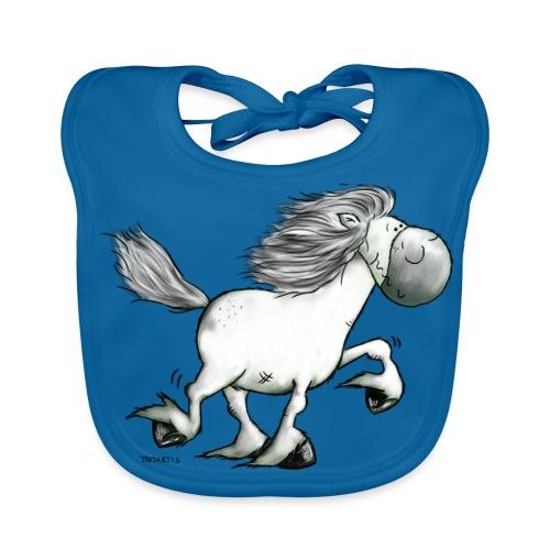 white_horse - Baby Organic Bib