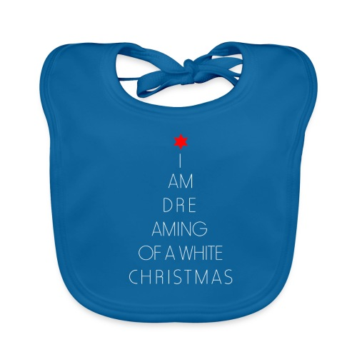 I am dreaming of a white christmas t shirt - Bio-slabbetje voor baby's