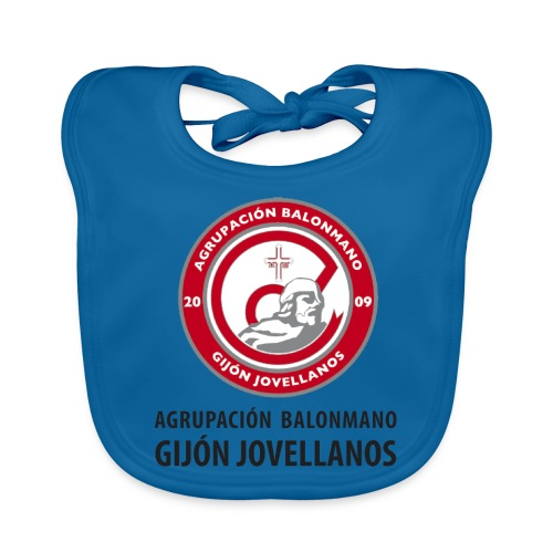 Escudo Gijón Jovellanos - Babero ecológico bebé