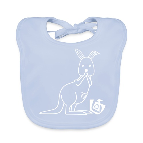 Paar-Kotzendes Känguru links - Baby Bio-Lätzchen