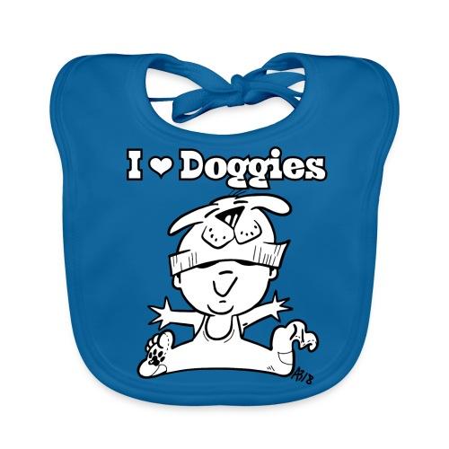 baby i love doggies - Bio-slabbetje voor baby's