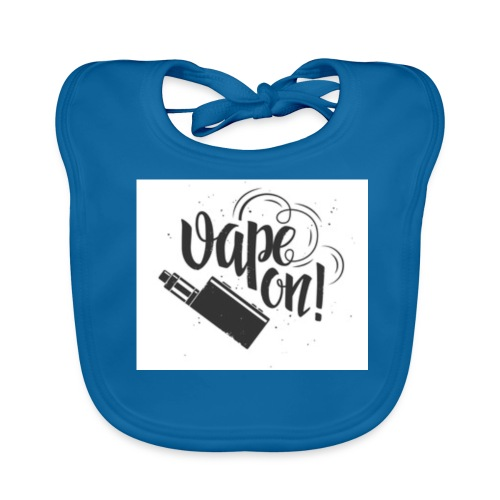 Mrvaper2016 vape on phone case - Baby Organic Bib