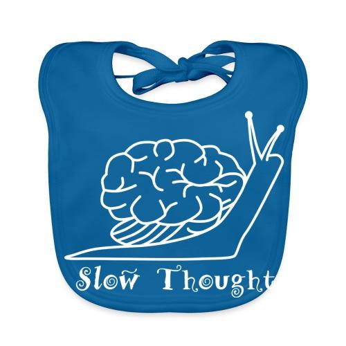 SlowThought (weiß) - Baby Bio-Lätzchen