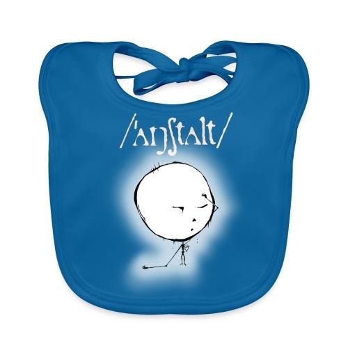 kreisling mit logo (weiß) - Baby Bio-Lätzchen