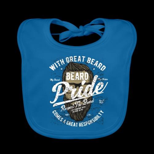 Beard Pride - Stolzer Bartträger - Baby Bio-Lätzchen