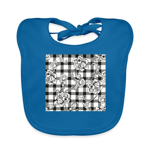 CHECK pattern throw pillow - Baby Organic Bib