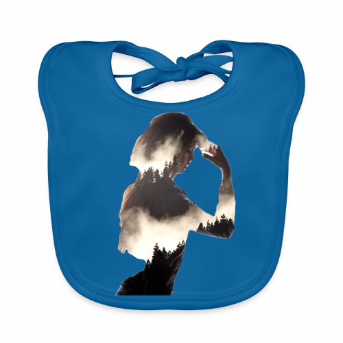Lady Double Exposure - Baby Organic Bib