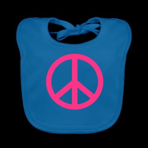 Gay pride peace symbool in roze kleur - Bio-slabbetje voor baby's