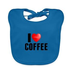 I Heart Coffee - Bio-slabbetje voor baby's