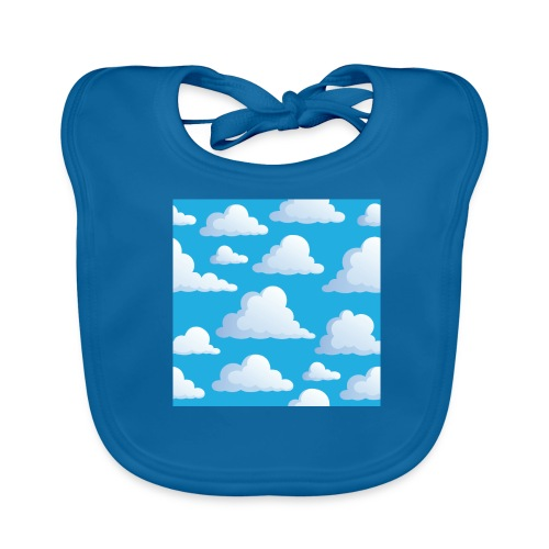 Cartoon_Clouds - Baby Organic Bib