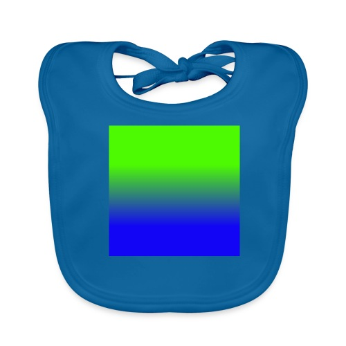 Linear pattern of green and blue - Baby Organic Bib