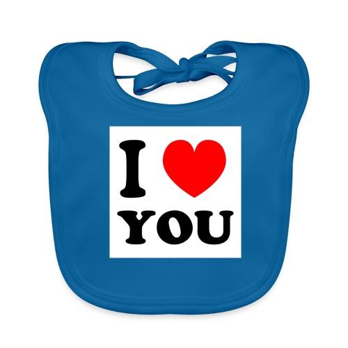 Sweater met i love you - Bio-slabbetje voor baby's