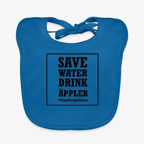 Save water, drink Äppler - Baby Bio-Lätzchen