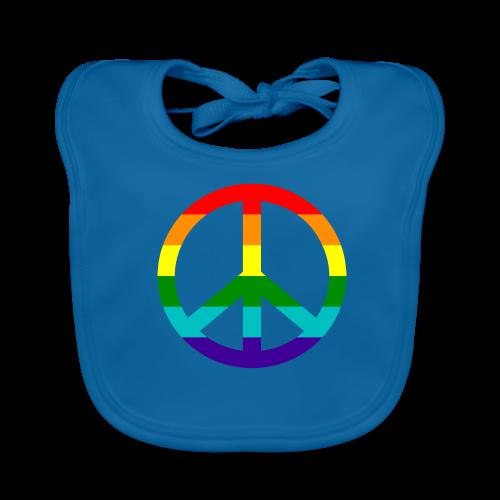 Gay pride peace symbool in regenboog kleuren - Bio-slabbetje voor baby's