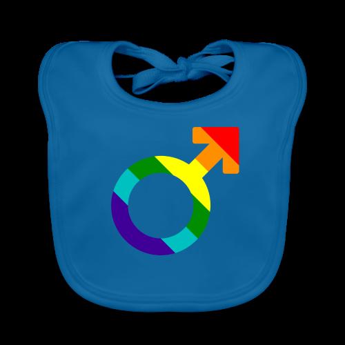 Gay pride regenboog mannen symbool - Bio-slabbetje voor baby's