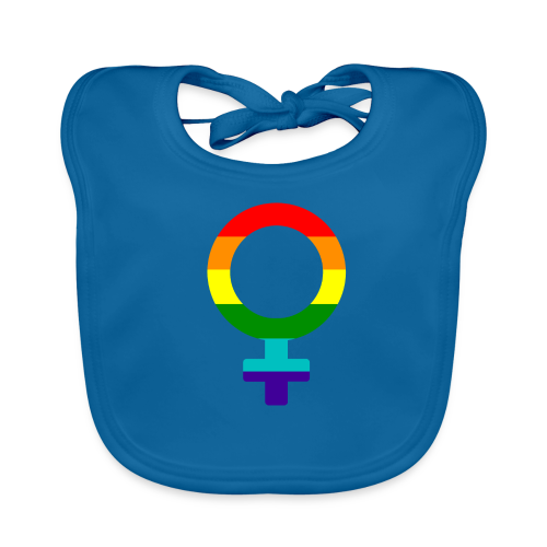Gay pride regenboog vrouwen symbool - Bio-slabbetje voor baby's
