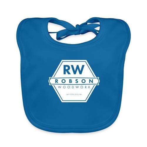 RW Logo In White - Baby Organic Bib