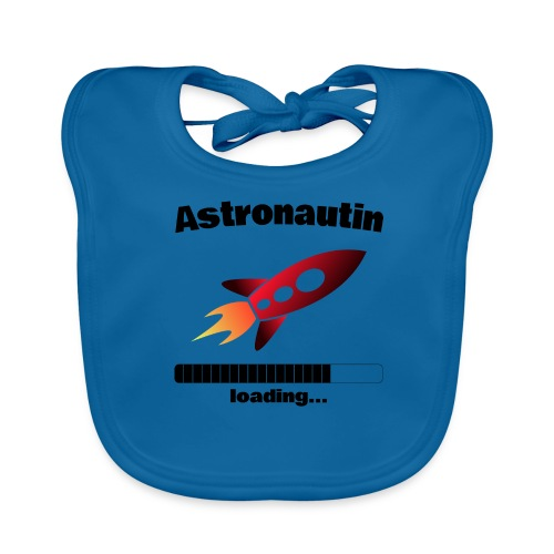 Astronautin loading... Baby Motiv - Baby Bio-Lätzchen
