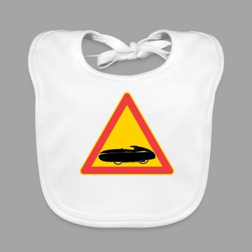 Traffic sign velomobile - Vauvan ruokalappu