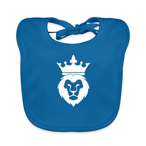 Lion_Logo_with_Crown_St--rre_bild_-white- - Ekologisk babyhaklapp