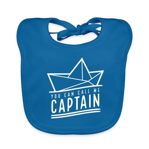 you can call me captain 02 – white - Baby Bio-Lätzchen