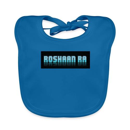ROSHAANRA BLUE LOGO LIMTED EDITION - Baby Organic Bib