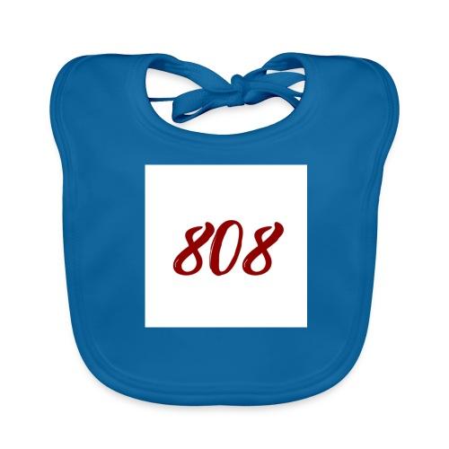 808 red on white box logo - Baby Organic Bib