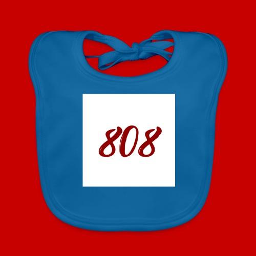 red on white 808 box logo - Baby Organic Bib