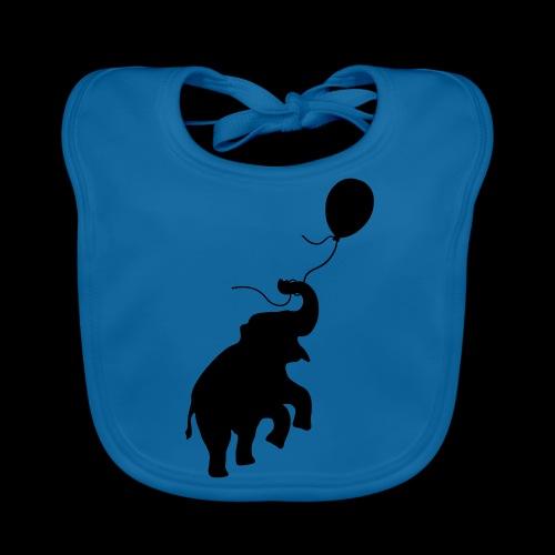 Elefant mit Ballon - Baby Bio-Lätzchen