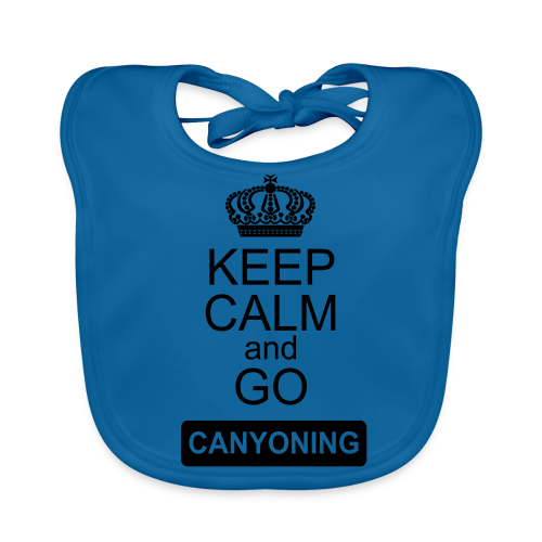 keep calm and go canyoning 2 - Baby Bio-Lätzchen